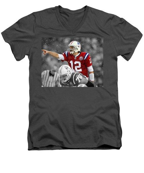 Field General Tom Brady  Men's V-Neck T-Shirt by Brian Reaves