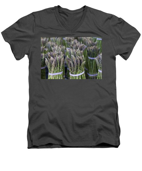 Fresh Asparagus Men's V-Neck T-Shirt by Mike  Dawson