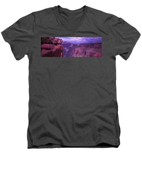 Grand Canyon, Arizona, Usa Men's V-Neck T-Shirt by Panoramic Images