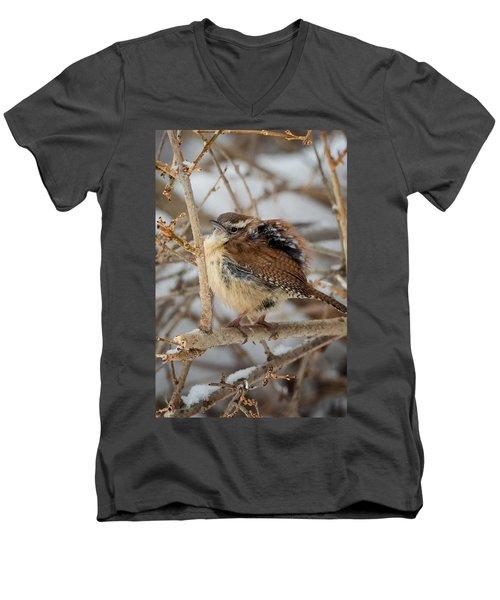 Grumpy Bird Men's V-Neck T-Shirt by Bill Wakeley