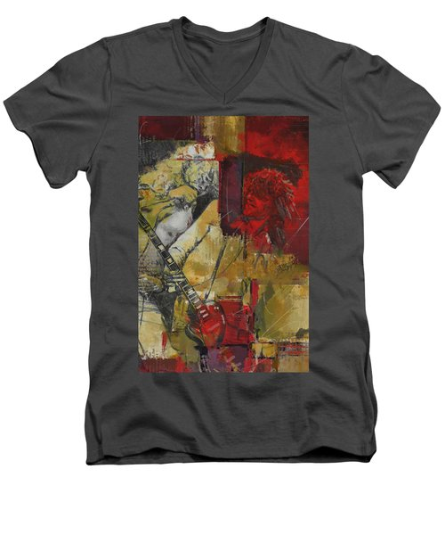 Led Zeppelin Men's V-Neck T-Shirt by Corporate Art Task Force