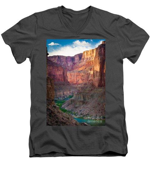 Marble Cliffs Men's V-Neck T-Shirt by Inge Johnsson
