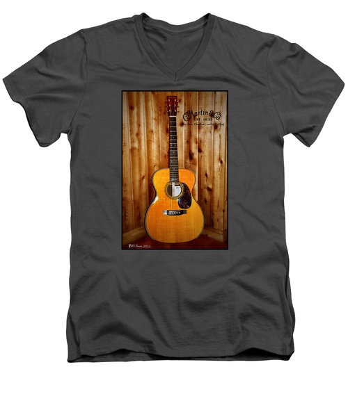 Martin Guitar - The Eric Clapton Limited Edition Men's V-Neck T-Shirt by Bill Cannon