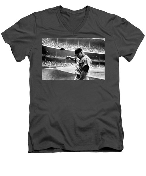 Mickey Mantle Men's V-Neck T-Shirt by Gianfranco Weiss