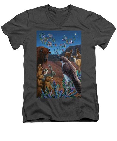 Moonlight Cantata Men's V-Neck T-Shirt by James W Johnson
