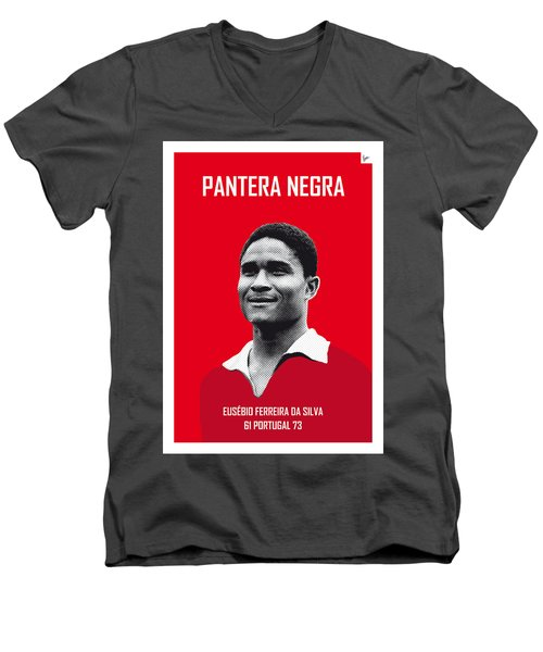 My Eusebio Soccer Legend Poster Men's V-Neck T-Shirt by Chungkong Art