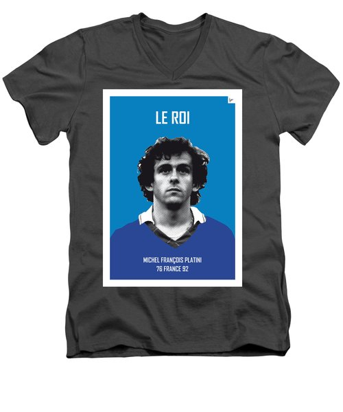 My Platini Soccer Legend Poster Men's V-Neck T-Shirt by Chungkong Art