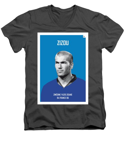 My Zidane Soccer Legend Poster Men's V-Neck T-Shirt by Chungkong Art