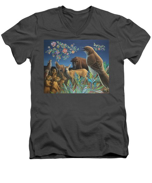 Nocturnal Cantata Men's V-Neck T-Shirt by James W Johnson