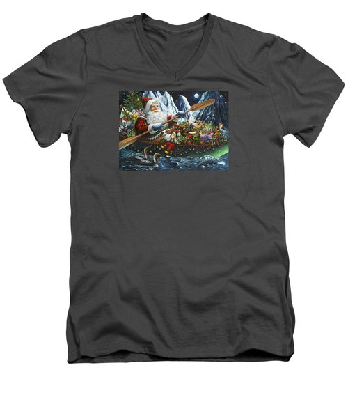 Northern Passage Men's V-Neck T-Shirt by Lynn Bywaters