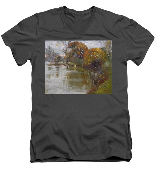 November 4th At Hyde Park Men's V-Neck T-Shirt by Ylli Haruni