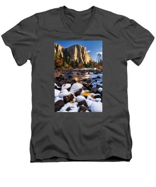 November Morning Men's V-Neck T-Shirt by Anthony Bonafede