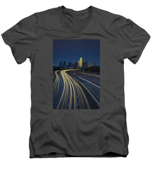 Oncoming Traffic Men's V-Neck T-Shirt by Rick Berk