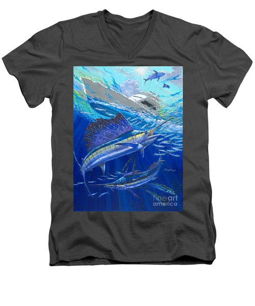 Out Of Sight Men's V-Neck T-Shirt by Carey Chen