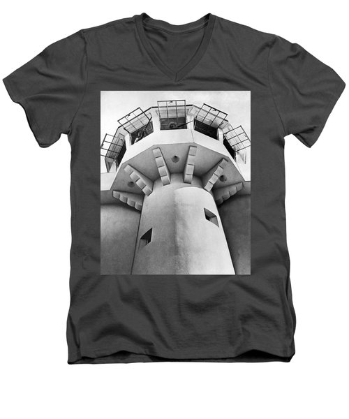 Prison Guard Tower Men's V-Neck T-Shirt by Underwood Archives
