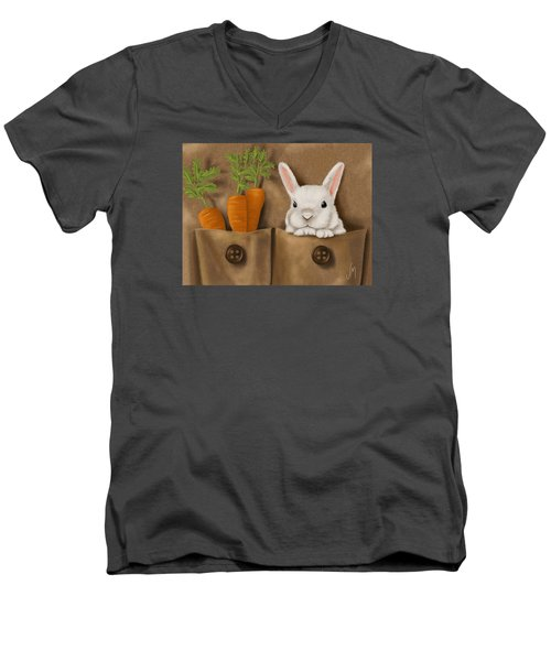 Rabbit Hole Men's V-Neck T-Shirt by Veronica Minozzi