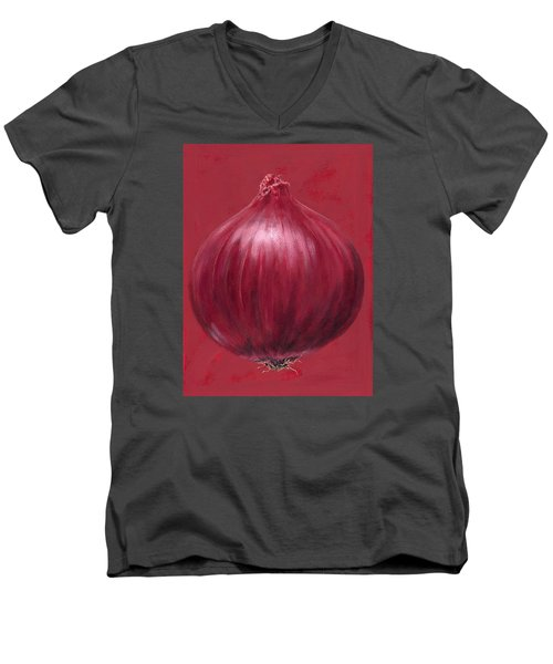 Red Onion Men's V-Neck T-Shirt by Brian James