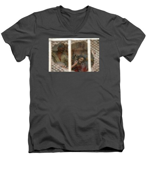 Men's V-Neck T-Shirt featuring the photograph Sacri Monti  by Travel Pics