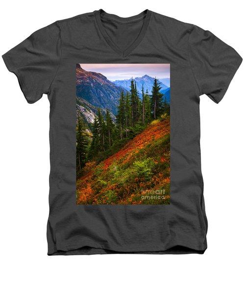 Sahale Arm Men's V-Neck T-Shirt by Inge Johnsson