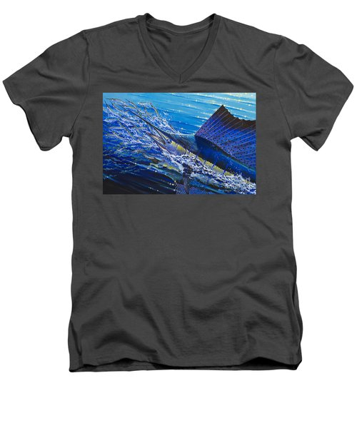 Sail On The Reef Off0082 Men's V-Neck T-Shirt by Carey Chen