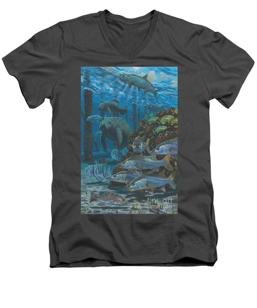 Sanctuary In0021 Men's V-Neck T-Shirt by Carey Chen
