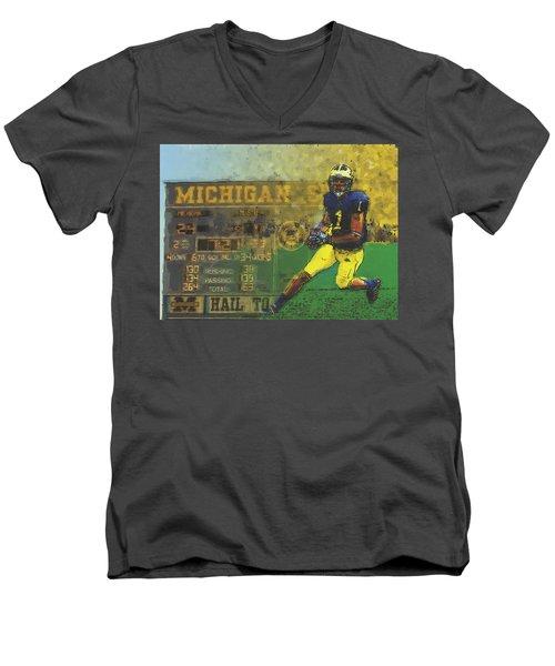 Scoreboard Plus Men's V-Neck T-Shirt by John Farr