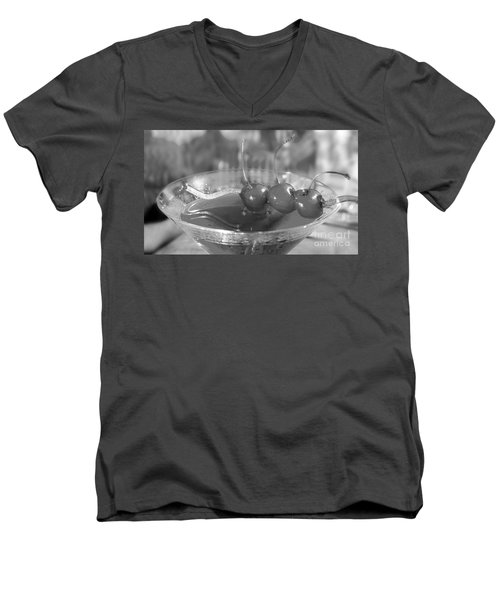 Shirley Temple Drink Men's V-Neck T-Shirt by Iris Richardson