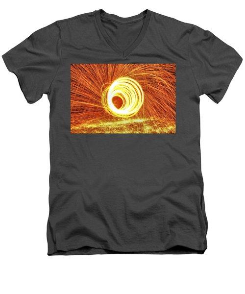 Shooting Sparks Men's V-Neck T-Shirt by Dan Sproul