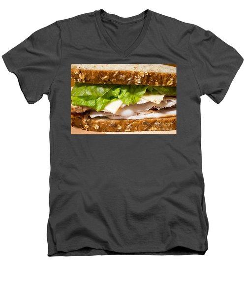 Smoked Turkey Sandwich Men's V-Neck T-Shirt by Edward Fielding