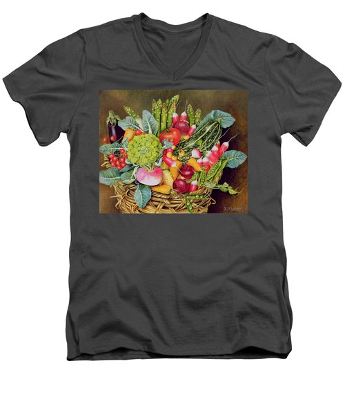 Summer Vegetables Men's V-Neck T-Shirt by EB Watts