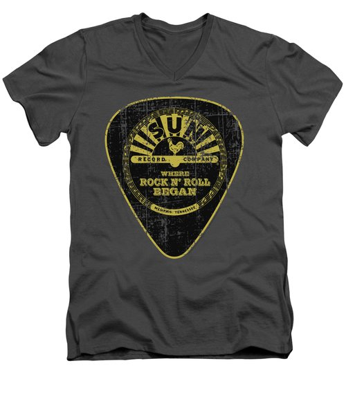 Sun - Guitar Pick Men's V-Neck T-Shirt by Brand A