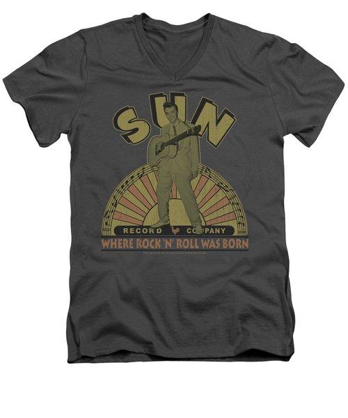 Sun - Original Son Men's V-Neck T-Shirt by Brand A
