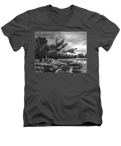 Taking Flight  Men's V-Neck T-Shirt by Peter Piatt