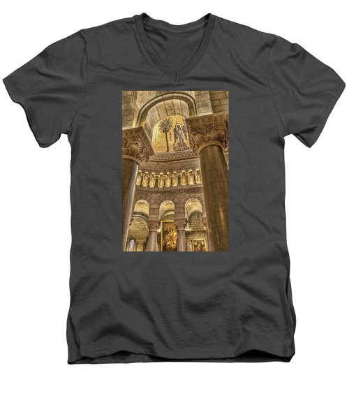 The Angel Men's V-Neck T-Shirt by Maria Coulson