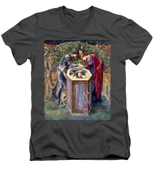 The Baleful Head, C.1876 Men's V-Neck T-Shirt by Sir Edward Coley Burne-Jones