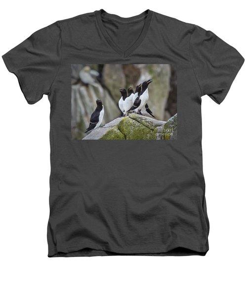 The Chorus Line Men's V-Neck T-Shirt by Evelina Kremsdorf