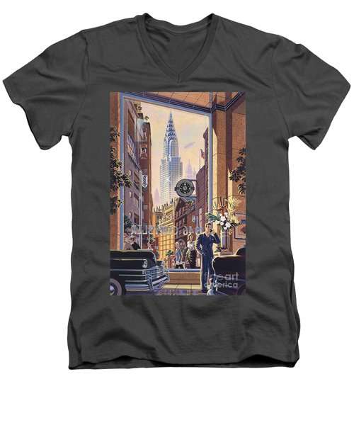 The Chrysler Men's V-Neck T-Shirt by Michael Young