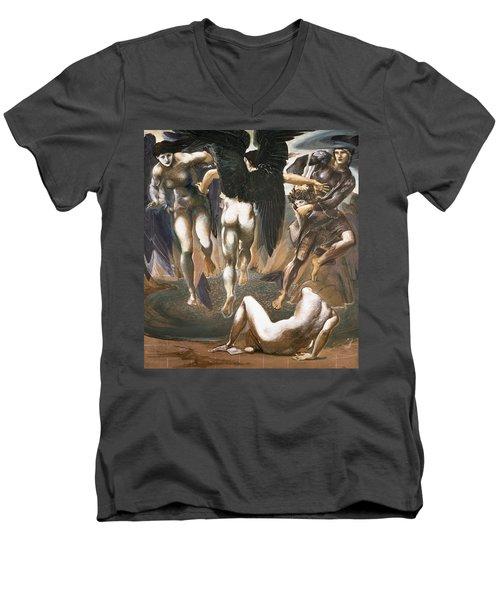 The Death Of Medusa II, 1882 Men's V-Neck T-Shirt by Sir Edward Coley Burne-Jones