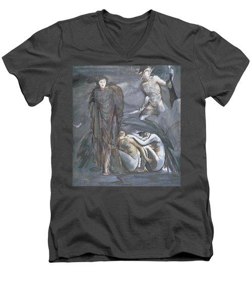 The Finding Of Medusa, C.1876 Men's V-Neck T-Shirt by Sir Edward Coley Burne-Jones