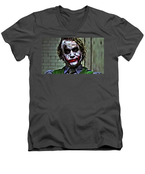 The Joker Men's V-Neck T-Shirt by Florian Rodarte