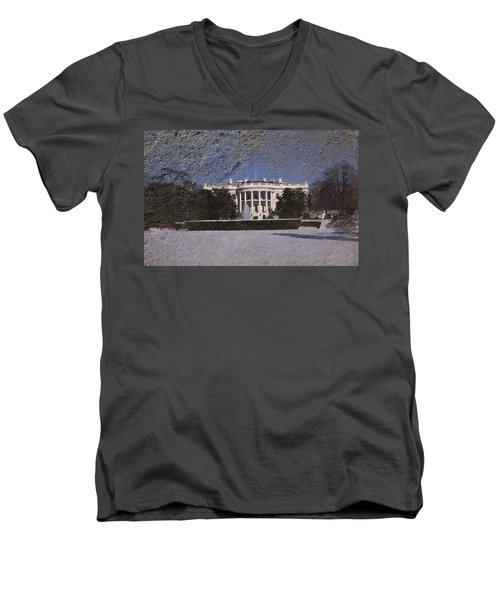 The Peoples House Men's V-Neck T-Shirt by Skip Willits