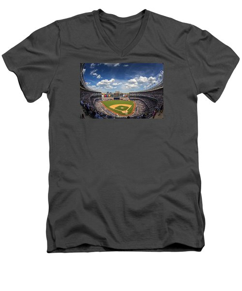 The Stadium Men's V-Neck T-Shirt by Rick Berk