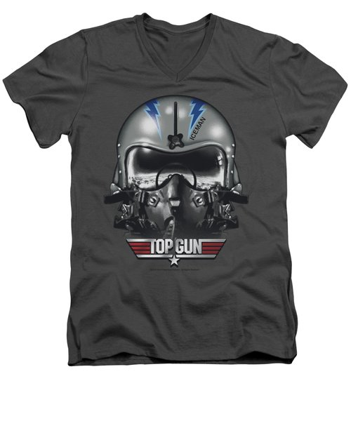 Top Gun - Iceman Helmet Men's V-Neck T-Shirt by Brand A