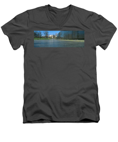 Vietnam Veterans Memorial, Washington Dc Men's V-Neck T-Shirt by Panoramic Images