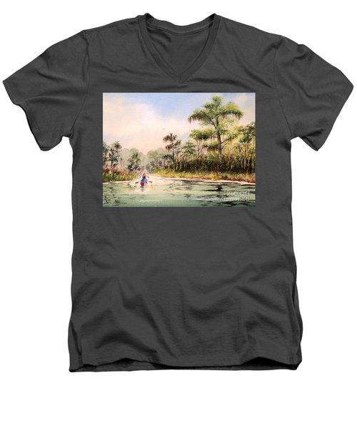 Wacissa River  Men's V-Neck T-Shirt by Bill Holkham