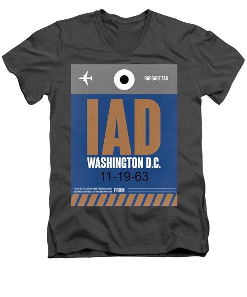 Washington D.c. Airport Poster 4 Men's V-Neck T-Shirt by Naxart Studio