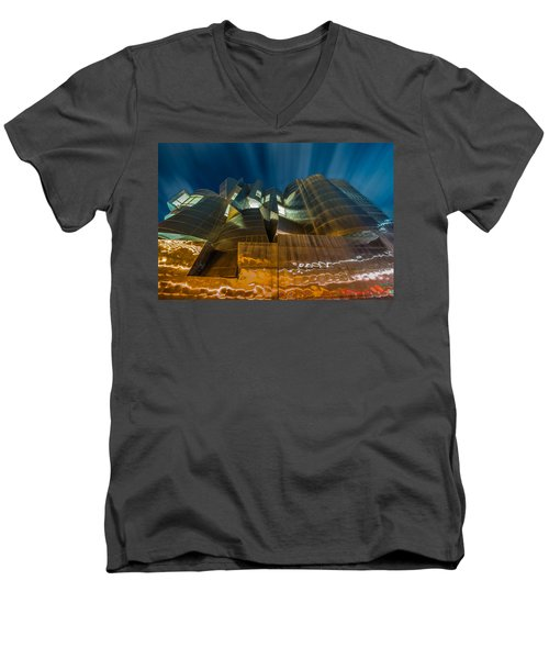 Weisman Art Museum Men's V-Neck T-Shirt by Mark Goodman