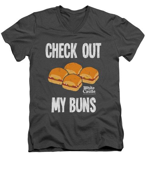 White Castle - My Buns Men's V-Neck T-Shirt by Brand A