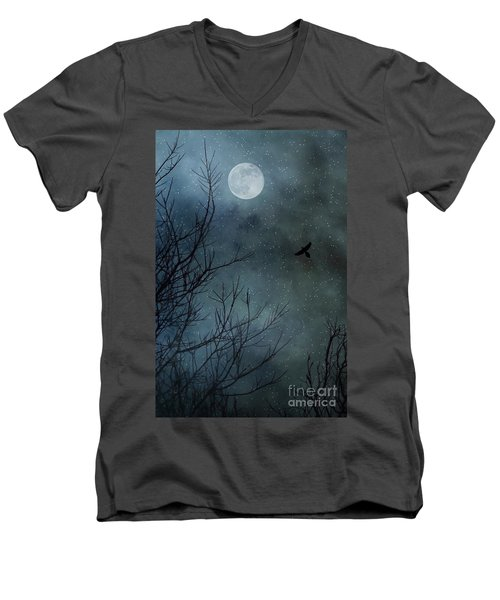 Winter's Silence Men's V-Neck T-Shirt by Trish Mistric