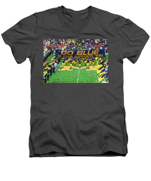 Wolverines Rebirth Men's V-Neck T-Shirt by John Farr